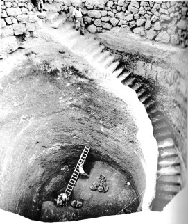 Excavated well at Gibeon