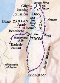Detour of Israelites