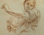 """Study of Jael in Red Chalk"" by Carlo Maratta"