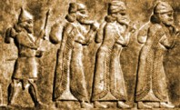 Assyrian soldier drives prisoners into exile