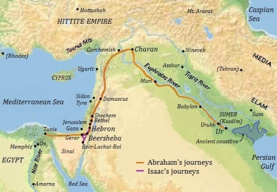 map Abraham's journey