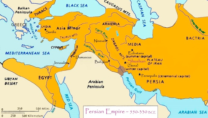 map Persian Empire