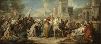 Triumph of Mordecai, by Jean Francois de Troy