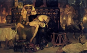 The Death of the First Born by Sir Lawrence Alma Tadema. 1872