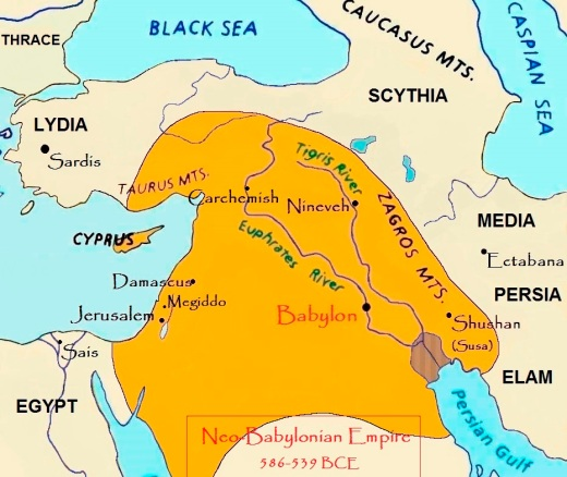 map Neo-Babylonian Empire B