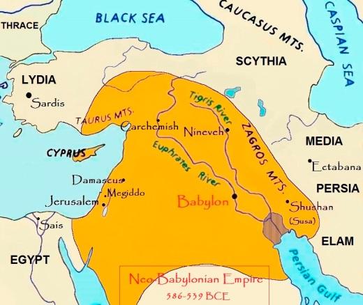 map Neo-Babylonian Empire B