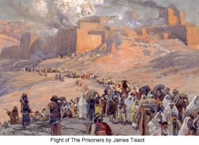 Nebuchadnezzar takes Jerusalem James_Tissot_Flight_of_The_Prisoners