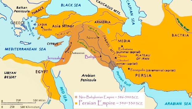 map Persian and Babylonian Empires