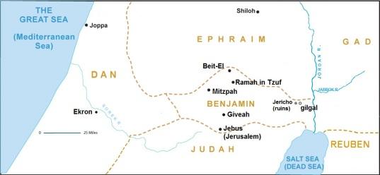 map Saul 1