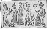 Babylonian cylinder seal illustrating child sacrifice
