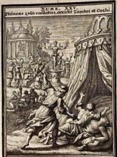 Pinchas Impales Zimri & Cozbi, by J.C. Weigel