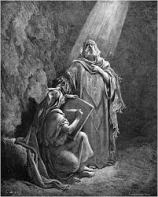 Jeremiah and his scribe Baruch by Gustave Dore