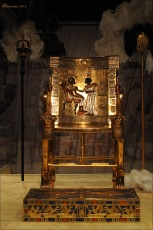 Pharaoh Tutankhamun's throne and footstool