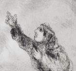 Channah praying from etching by Marc Chagall