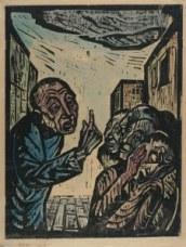 Jonah Preaching in Nineveh, by Jakob Steinhardt, 1923