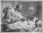 Elisha's Servant Geichazi, engraving by Bernhard Rode