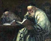 Talmud Readers by Adolf Berman
