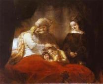 Jacob Blessing the Sons of Joseph, by Rembrandt
