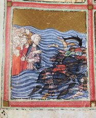 from the Golden Haggadah, c. 1320 Spain