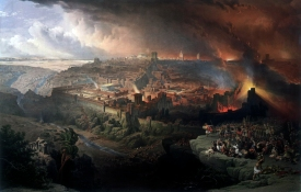 History repeats itself: Siege and Destruction of Jerusalem by the Romans, by David Roberts, 1850 (history repeats itself)